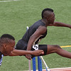 Jeylin Reed of Rider placed second the 300m hurdles at the Region 1-4A track meet with a time of 39.06.