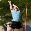 Rachel Fisher (Unattached) clears 13' for first place.