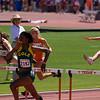 Lauren Garrott (San Antonio Cole) wins the 2nd heat of the Division 1 100 meter hurdles.
