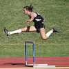 Rider's Sissle ran in the 300m hurdles at the Region 1-4A track meet.  Sissle covered the distance in 51.87
