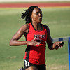 Chloe Thorton runs the final leg of 4X400 relay for WFHS at the Region 1-4A track meet.  The Lady Coyotes squad advanced to the finals with a time of 4:04.39.