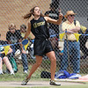Taylor Caswell of Rider throws the discus in the Region 1-4A track meet.