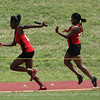 The WFHS 4X100 relay team was disqualified when then dropped the baton during their first exchange.