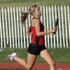 Kaitlin Foran runs the third leg of the 4X400 for WFHS enroute to a 4:04.39, good enough to advance to the finals of the Region 1-4A track meet in San Angelo.