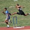 300m boys hurdles.  Javon Johnson of WFHS.