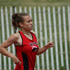 Lexi Brown runs in the 800m dash at the Region 1-4A track meet.  Brown posted a time of 2:39.53