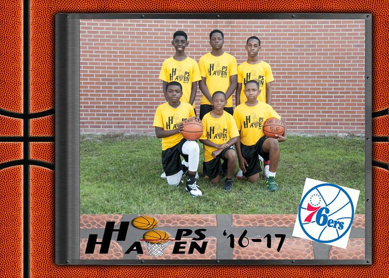 76ers 5x7 team