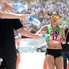 "Team Mexico's Marisol Romero crosses the finish line of the Bolder Boulder inside Folsom Field on the University of Colorado campus on Monday, May 28. For more photos of the race go to  <a href=""http://www.dailycamera.com"">http://www.dailycamera.com</a><br /> Jeremy Papasso/ Camera"