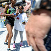 "Ethiopia's Mamitu Daska is congratulated at the finish line of the Bolder Boulder after winning the Elite Women's 10K race on Monday, May 28. For more photos of the race go to  <a href=""http://www.dailycamera.com"">http://www.dailycamera.com</a><br /> Jeremy Papasso/ Camera"