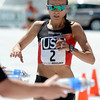 "Team USA's Magdalena Lewy-Boulet crosses the finish line of the Bolder Boulder inside Folsom Field on the University of Colorado campus on Monday, May 28. For more photos of the race go to  <a href=""http://www.dailycamera.com"">http://www.dailycamera.com</a>"