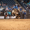 Shaie Williams for Working Ranch Magazine. Tyler Rice from Sandhill Cattle wns the go round with a score of 84 on his bronc ride for a team 2nd place resreve champion at the WRCA 21st World Championship Ranch Rodeo  held at Amarillo Civic Center  in Amarillo, TX  on November 13, 2016.