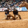 Shaie Williams for Working Ranch Magazine. JOD Ranch and Brown Mill Ranch tie one during the Stray Gathering at the RWRCA 21st World Championship Ranch Rodeo  held at Amarillo Civic Center  in Amarillo, TX  on November 13, 2016.