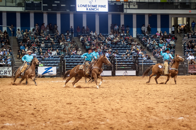 Shaie Williams for Working Ranch Magazine. Lonsome Pine Ranch last years world champsions during the Stray Gathering at the WRCA 21st World Championship Ranch Rodeo  held at Amarillo Civic Center  in Amarillo, TX  on November 13, 2016.