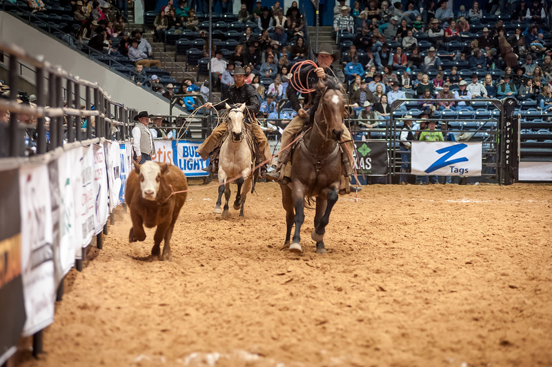 Shaie Williams for Working Ranch Magazine. JOD Ranch and Brown Mill Ranch  during the Stray Gathering at the RWRCA 21st World Championship Ranch Rodeo  held at Amarillo Civic Center  in Amarillo, TX  on November 13, 2016.