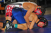 First Round, Baldwin HS, Kenny Yeh, 103 lb. class lost to Island Trees, Andrew Eberlien. 2:5. February 13th, 2010. Section VIII. Photograph by Kathy Leistner.