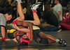 Kareem Harris, W. Hempstead wins over Aaron Calerio, Freeport, 1st Round.<br /> Photo by Kathy Leistner