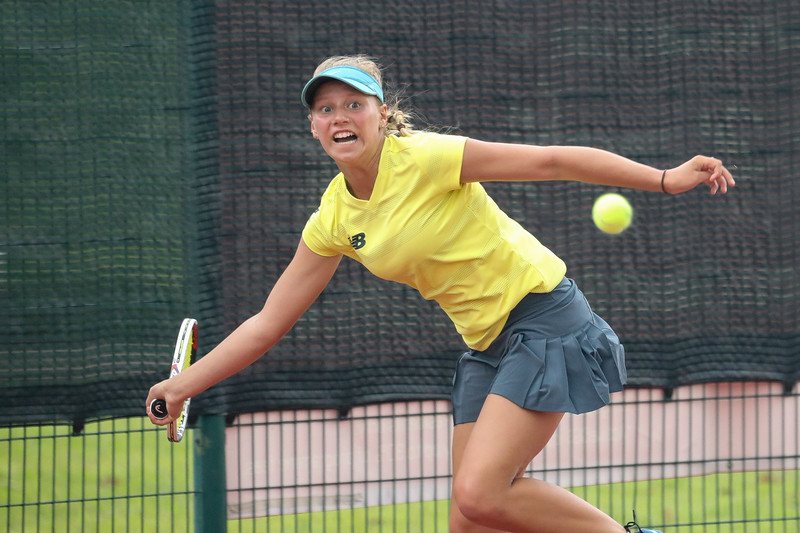 Australia Maggie PEARCE  in action during WTA Future Starts Tournament 2017, in U14 Round Robin held at Kallang Tennis Centre, Singapore. (Photo by Sanketa Anand, Sport Singapore)