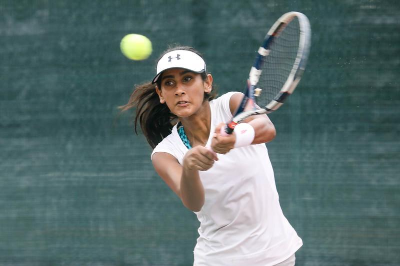 Koirala PRERANA (NPL) in action during WTA Future Starts Tournament 2017, in U14 Round Robin held at Kallang Tennis Centre, Singapore. (Photo by Sanketa Anand, Sport Singapore)