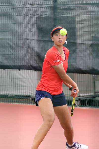 Skylar WAN (HKG) in action during WTA Future Starts Tournament 2017, in U16 Round Robin held at Kallang Tennis Centre, Singapore. (Photo by Sanketa Anand, Sport Singapore)