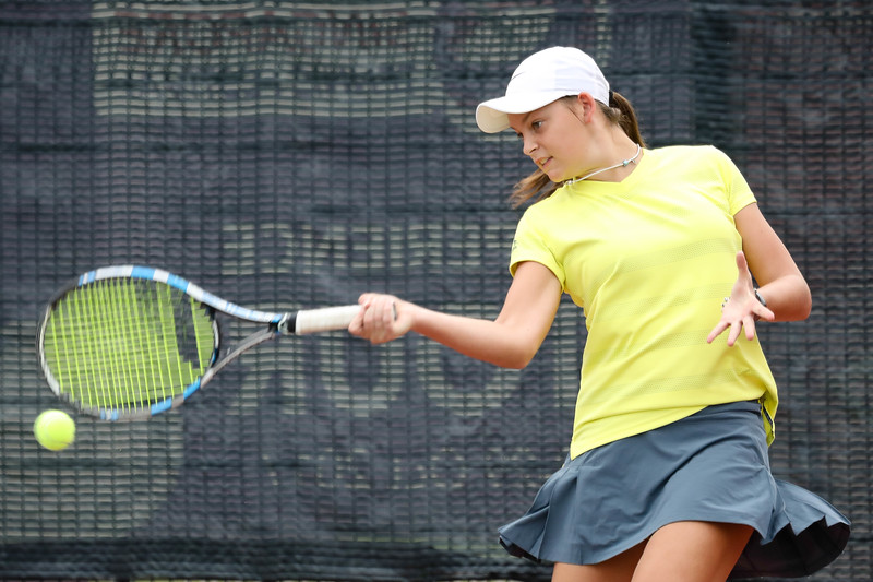 Megan SMITH (AUS) in action during WTA Future Starts Tournament 2017, in U16 Semi-Finals held at Kallang Tennis Centre, Singapore on 20th Oct 2017. (Photo by Sanketa Anand, Sport Singapore)