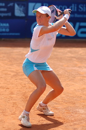Martina Muller during the final of the WTA Palermo tournament hosted by the Country Time Club .