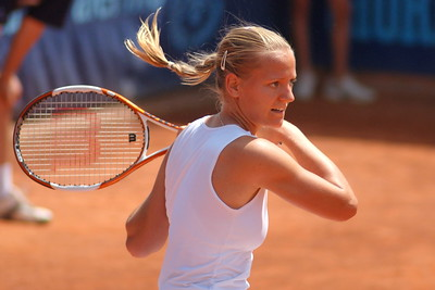 Agnes Szavay during the final of the WTA Palermo tournament, hosted by the Country Time Club.