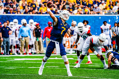 WV QB #7 Will Grier passing.