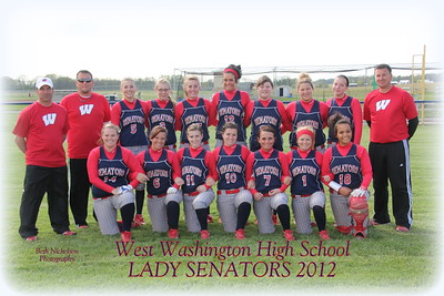 WW 2012 Lady Senators Softball Team Pic