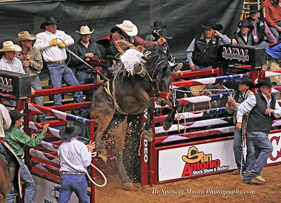 Bareback Riding in Waco, Texas, Rodeo finals January 2012