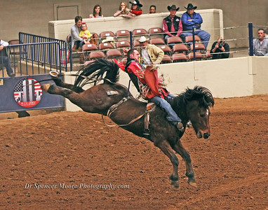 Bare Back Riding in the Heart of Texas Colosseum, Waco, Texas, Rodeo Finals, January 2012