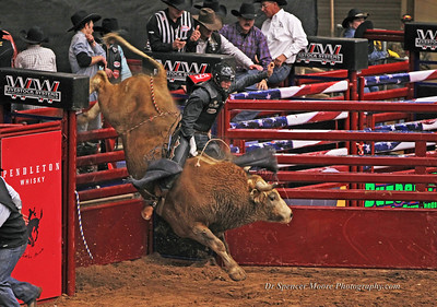 Bull ridding in Waco, Texas, Rodeo Finals January 2012