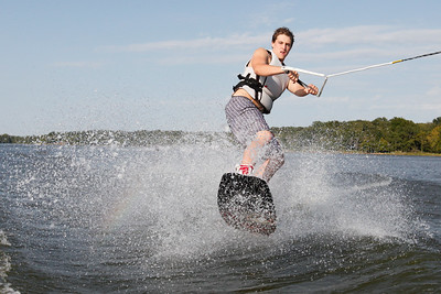 Connor Wakeboarding at Wewoka Lake