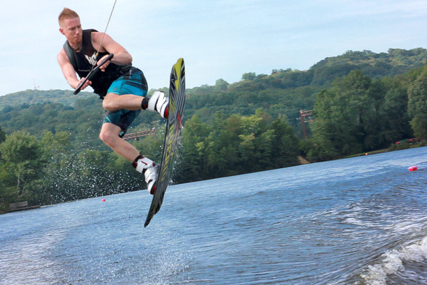 Wakeboarding on Indian Lake in Denville, N.J.   @2011 Joanne Milne Sosangelis. All rights reserved.