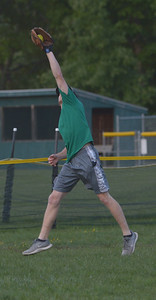 Nate Simmons makes a catch in center field. (Paula Roberts photo)
