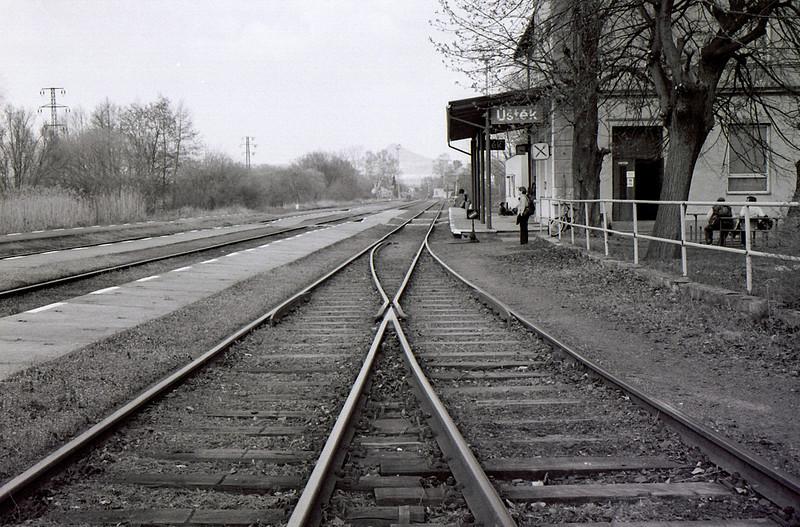 nádraží v Úštěku (před odjezdem zpět do Prahy)