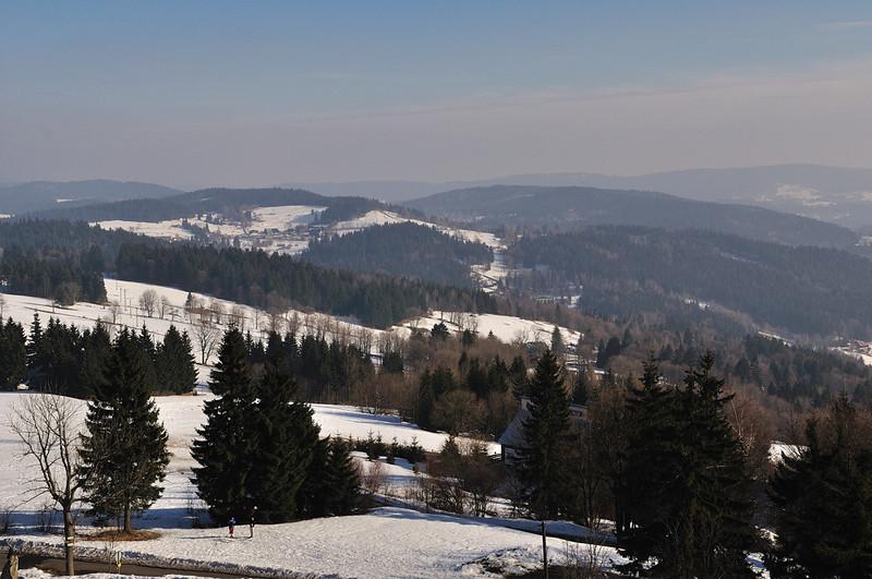 pohled z rozhledny Královka směrem na jihovýchod