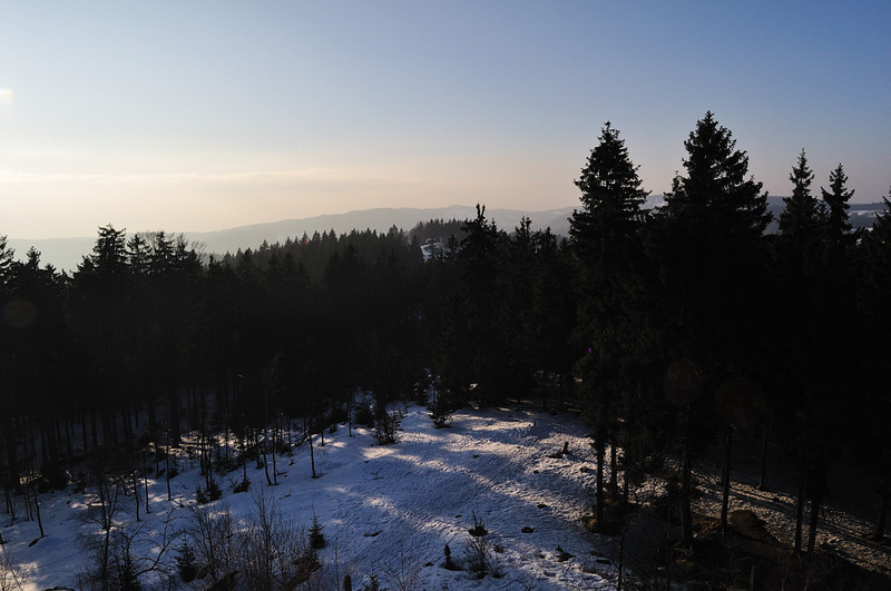 pohled ze Slovanky směrem na západ