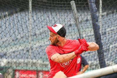 Washington Nationals batting practice