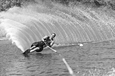 Water Skiing On The Man Made Lake