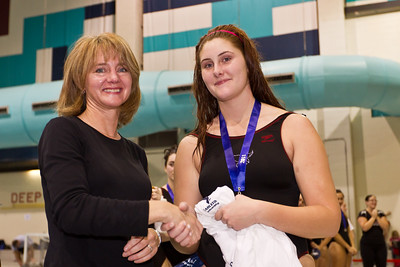 Sarah McIIveen receiving her All Star Team award from Director Jennifer Brenning