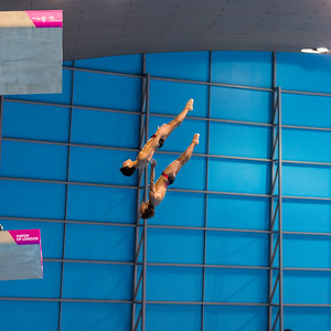 LEN European Aquatics Championships Day 4: Men's Synchronised 10m Diving Finals, London, UK.