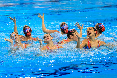 LEN Euroean Championships, London - Synch Team Finals.