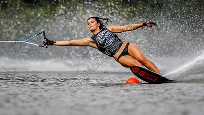 Kristen Baldwin - Malibu Open Slalom skiing