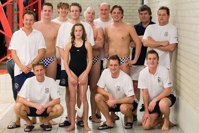 Katwijk 1 - BZC Brandenburg 1. Teamfoto met pupil van de week.
