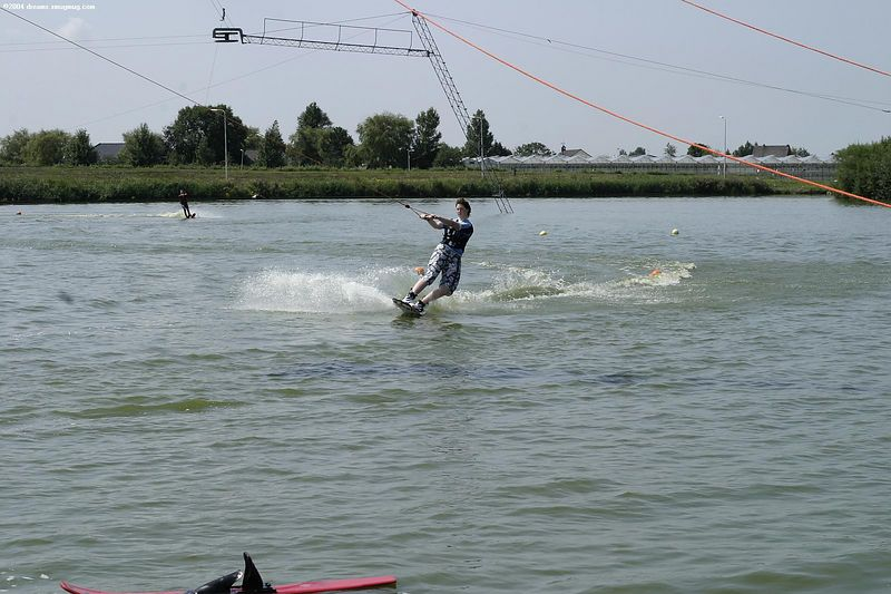 Girl on a wakeboard