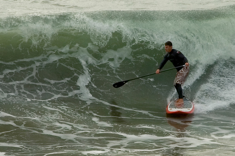 Standing up in the curl at Venice