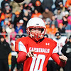 Webb City quarterback Andrew Greek throws a successful pass against Cape Girardeau during the Semi-Final Saturday afternoon, Nov. 23, 2013, at Webb City.<br /> Globe | T. Rob Brown