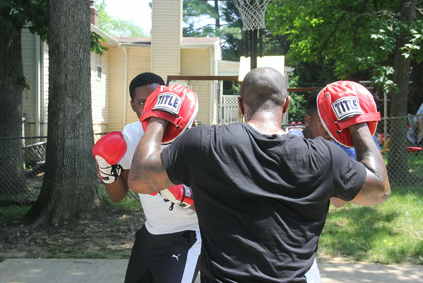 Week four with Wisdom, Boxing Fitness