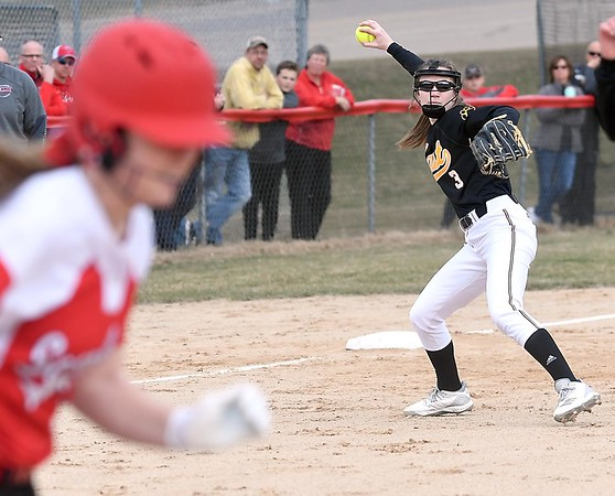 Mankato West softball v. Mankato East 2