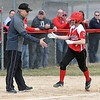 Mankato West softball v. Mankato East 1